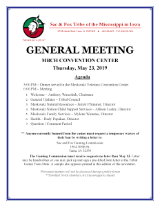 General Meeting @ MBCH Convention Center