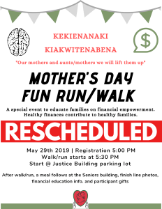Mother's Day Fun Run/Walk @ Tribal Court - Parking Lot