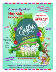 Meskwaki Community Easter Egg Hunt @ Meskwaki Health Clinic | Tama | Iowa | United States