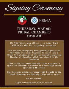 Signing Ceremony @ Tribal Chambers