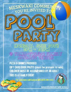 Family Services Pool Party @ Tama-Toledo Family Aquatic Center