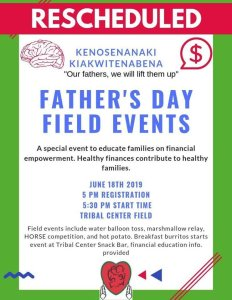 Father's Day Field Events @ Meskwaki Tribal Center