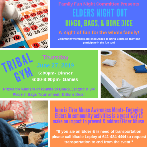 Elders Night Out @ Meskwaki Tribal Center - Gym