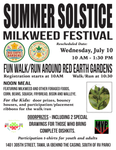 Summer Solstice Milkweed Festival @ Red Earth Gardens | Tama | Iowa | United States