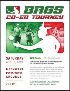 Co-Ed Bags Tournament During Annual Powwow
