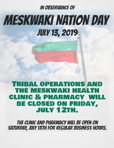 Meskwaki Nation Day - Tribal Office Closed