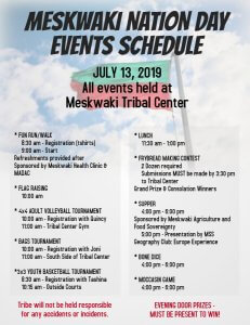 Meskwaki Nation Day Events Announced