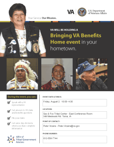 VA Benefits Open Sign Up and Claims Event @ East Conference Room - Tribal Center