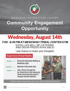 Community Engagement - Meskwaki Recreation Center @ Meskwaki Tribal Center - Gym