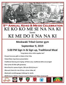 5th Annual Koko & Medo Celebration @ Meskwaki Tribal Center Gym