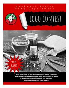 Hemp Department Logo Contest Due Date