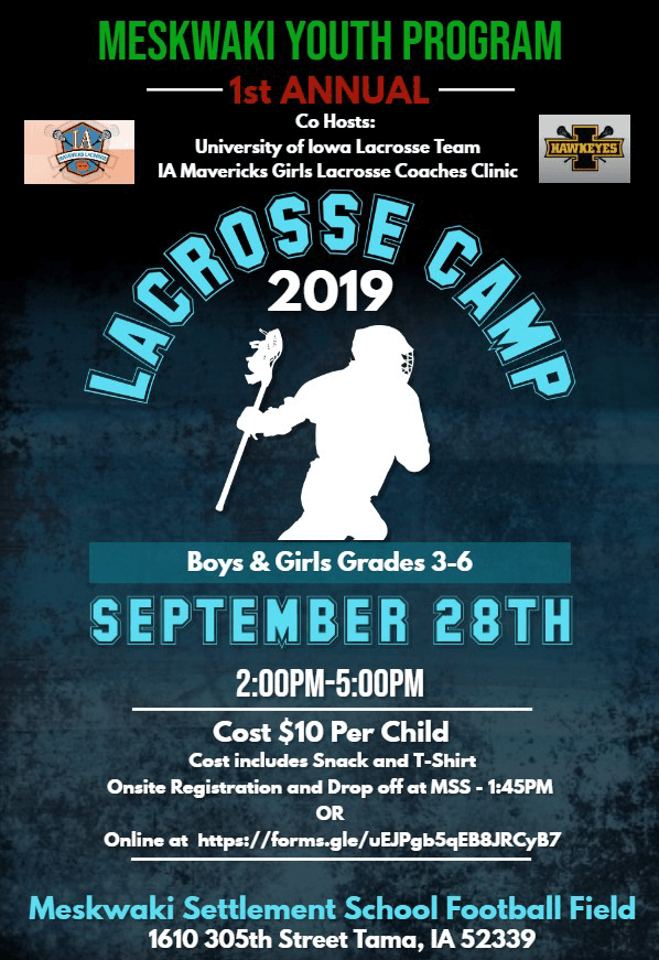 MYP Hosts Lacrosse Camp on Saturday, Sept. 28th
