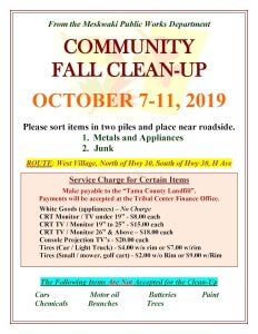 Community Fall Clean-Up THIS WEEK!