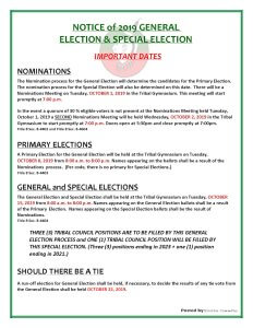 General Election @ Meskwaki Tribal Center - Gymnasium