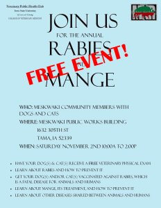 Free Rabies and Mange Clinic