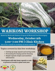 Wabikoni Workshop @ Health Clinic Kitchen
