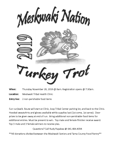 Turkey Trot @ Meskwaki Tribal Health Clinic