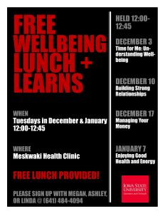 Lunch and Learn Rescheduled