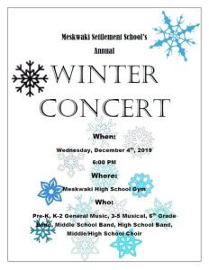 MSS Winter Concert @ Meskwaki High School Gym