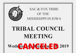 Canceled: Tribal Council Meeting