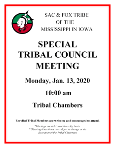 Tribal Council Special Meeting 1.13.20