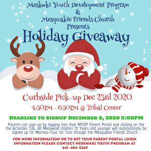 MYDP Holiday Giveaway @ Tribal Center