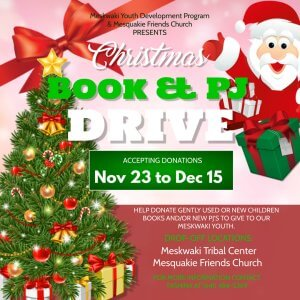 MYDP Christmas Book & PJ Drive @ Tribal Center // Mesquakie Friends Church