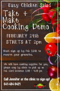 Cooking Demo Announced