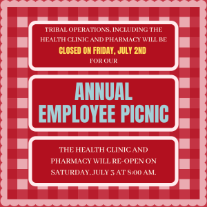 Tribal Ops Closed for Employee Picnic