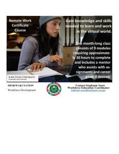 Workforce Development and ISU Extension and Outreach offer Remote Work Certificate Course