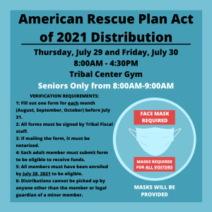 ARPA Distribution Thursday and Friday
