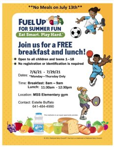MSS Providing Breakfast and Lunch to All Youth Ages 1-18